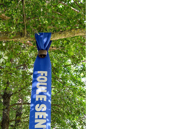 détail d'une des banderoles